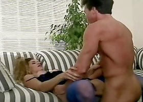 Mercedes Lynn sucks and rides Peter North's hard dick