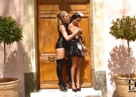 Anissa Kate and Eva Parcker Maid Needs Stern Training Femdom Lesbians