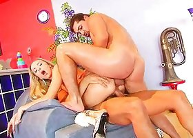 Angelic Alyssa gets fucked in both holes at once