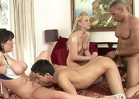 Bisexual Orgy Between Two Couples