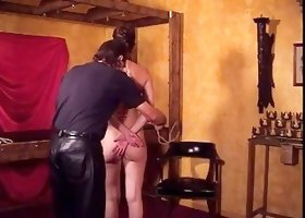 Big tits hottie enjoys a BDSM session for her audition