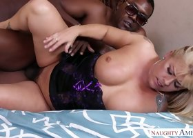 Stacked blonde Joclyn Stone has a serious black cock addiction