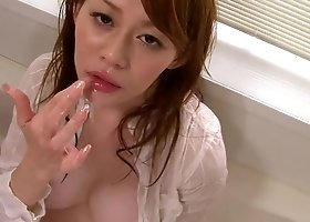 Busty cute babe gives an amazing blowjob