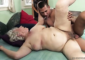 Dissolute grandma Norma banged hard by a horny stud