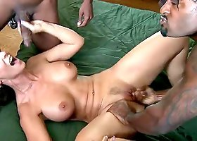 Horny Syren Demer Gets in a Threesome