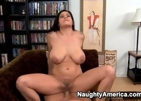 Supreme breasty Russian Raylene giving a handjob