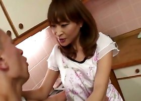 Sweet Japanese honey Hikaru Wakabayashi with a pussy full of hot jizz cream.