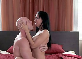 Isis Love gives a hot blowjob and gets fucked in the cowgirl position