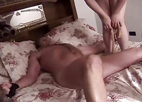 2 BALLBUSTING BABES DOMINAT A HELPLESS GUY