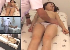 Hairy Jap babe goes dirty in spy cam massage room video