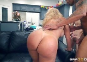 Blonde busty wife Ryan Conner is there to be shared with friends