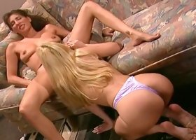 Gorgeous Lesbians Play With Anal Beads
