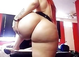 Redhead pawg pleasuring with lush