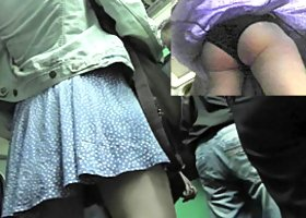 Sexy young chicks in the amazing upskirt oops video
