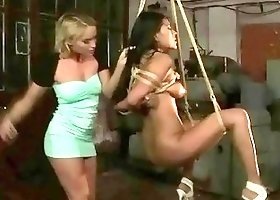 Mistress Kathia Nobili punishes her new latina slave babe BDSM