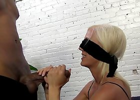 Reality Video of a Behind the Scenes Interracial Blowjob