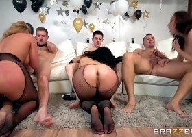Chanel Preston & Kristina Rose & Phoenix Marie & Danny D & Jordi El Nino Polla & Keiran Lee in Brazzers New Years Eve Party - Braz