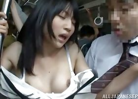 Japanese Office Lady Groped In The Subway