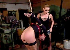 Barbie Pink enjoys playing BDSM games with Kathia Nobili