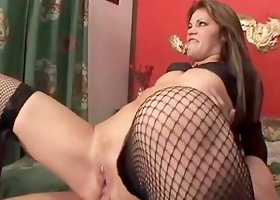 Gia Paloma plays with her holes and gets double penetrated