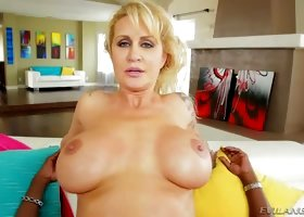 Bodacious MILF Ryan Conner takes a big black cock up her tight ass
