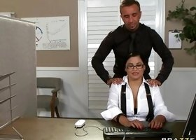 He Knows How To Satisfy His Big Tits Boss!