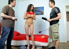 Unearthly golden-haired Russian youthful girl Cosette Ibarra in real BDSM action
