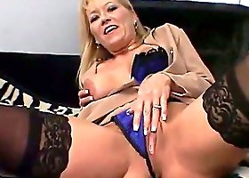 Mature blonde gets her cunt licked and fucked deep and hard
