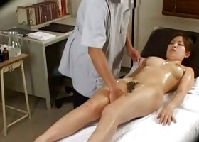 Doctor mounts his patient and fucks her during her breast exam