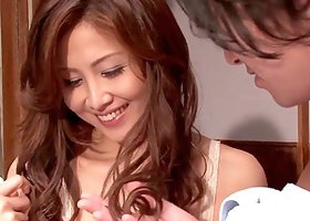 Asami Ogawa the slutty Asian gets fucked by two guys