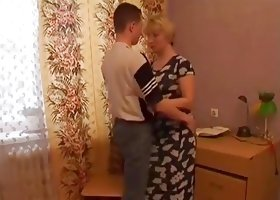 Mature Teacher Help her Student with sexual  home work