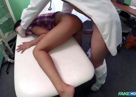 Lollipop in Patient enjoys nurse massage and doctors big cock therapy - FakeHospital